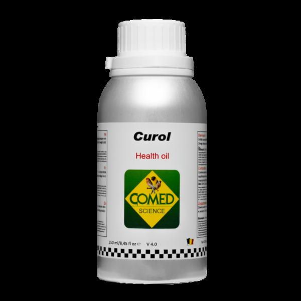 Comed Curol 250 ml, (aceite de cura, refuerza el sistema inmunitario de los pájaros con efecto anti-estrés)