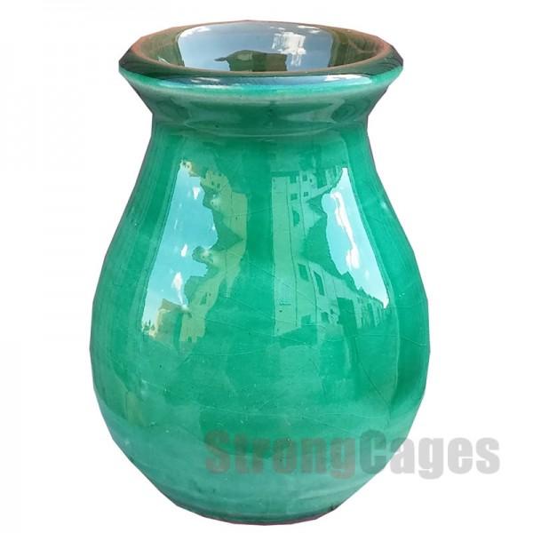 Olleta cerámica verde
