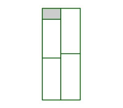Panel PVC cuadro superior pequeño del panel puerta peatona
