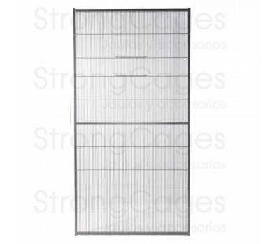 Panel de malla de voladero con puerta guillotina