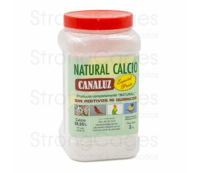Calcio Natural Canaluz G-00 2 Kg  (rojo)