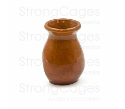 Olleta cerámica marrón