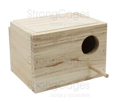 Nido de madera para Agaporni Horizontal