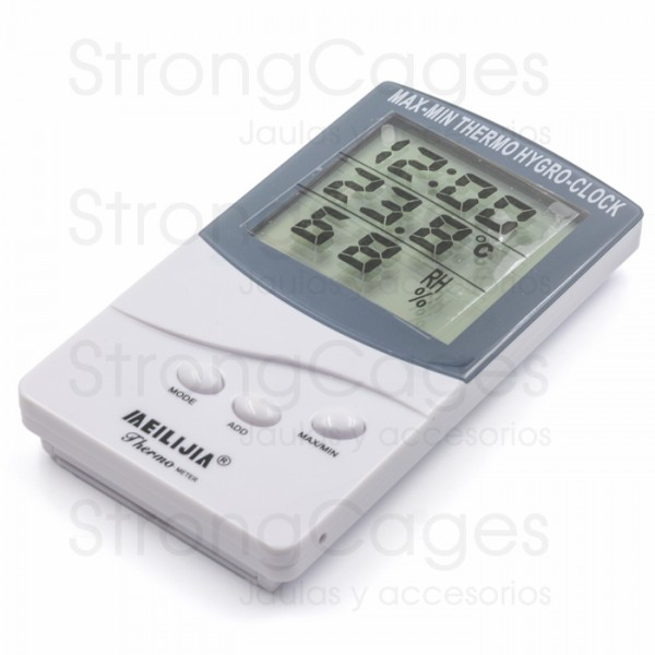 Termometro / Higrometro digital con reloj