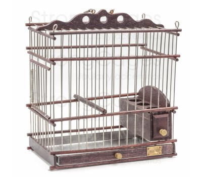 Cage for wild rectangular wood craft