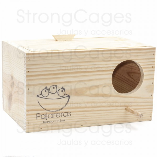 Nido de madera horizontal para Ninfa