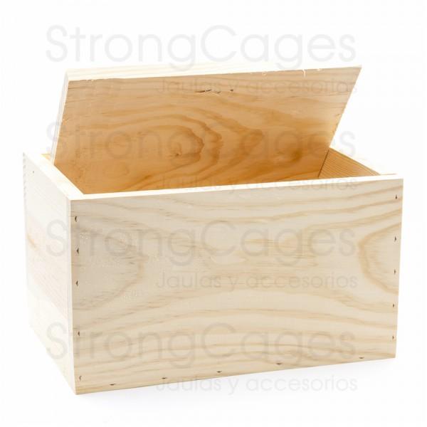 Nido de madera periquitos