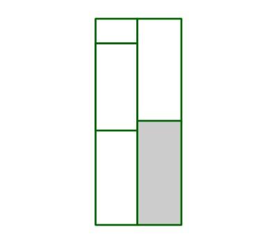 Panel PVC cuadro inferior derecho puerta peatonal