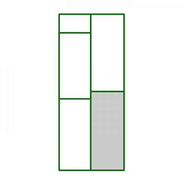 Panel pvc cuadrado inferior derecho del panel puerta peatonal