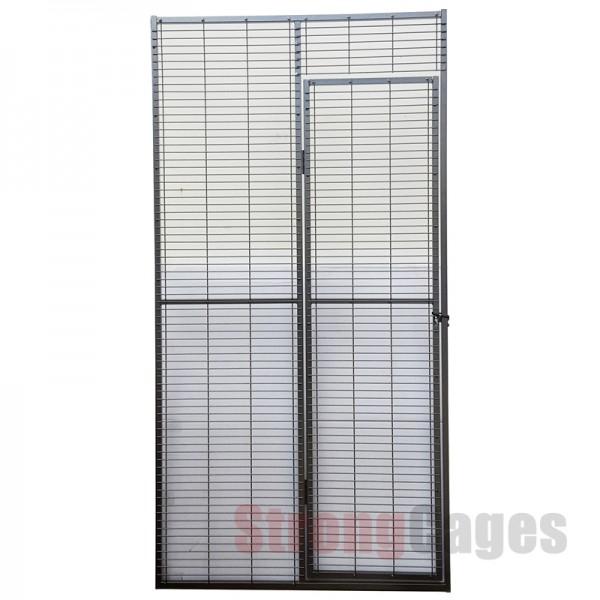 Parrot aviary door panel