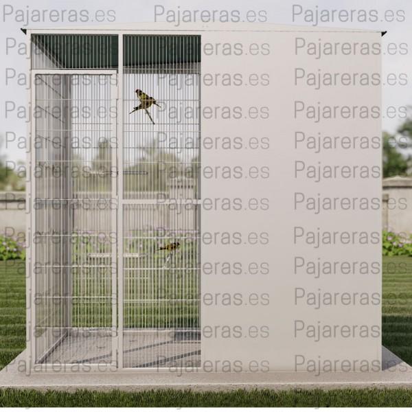 Voladera Huesca (2x1 mts con 3 paneles cortavientos)