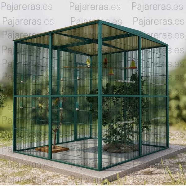 Voladera Torreblanca (2x2 con techo a dos aguas)